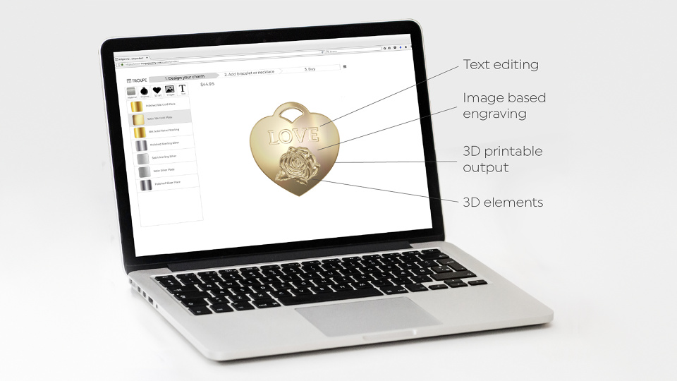 A Jewelry Designer - Interactive 3D WebGL Jewelry Customizer